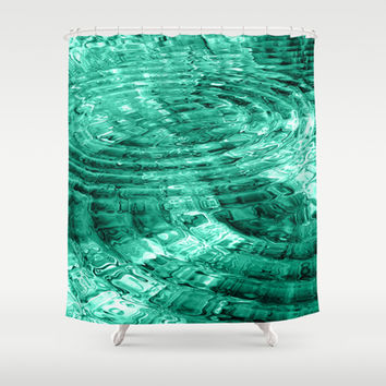 Ripples Shower Curtain by Alice Gosling