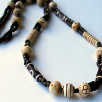 Ebony Ivory Style Necklace