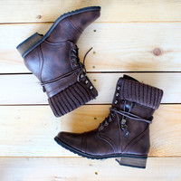 RESTOCKED ankle sweater boots dark brown sweater booties boot bootie shoe shoes shoe game fall winter fashion socks cozy combat boots rugged