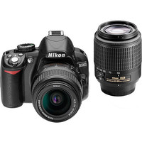 Walmart: Nikon Black D3100 Digital SLR Camera with 14.2 Megapixels Kit, Includes 2 Lenses (AF-S DX Non-VR Nikkor 18-55mm and 55-200mm)