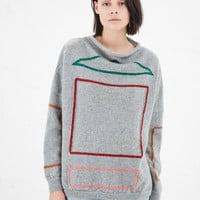 Totokaelo - Anntian Color Outline Pullover Sweater - $689.00