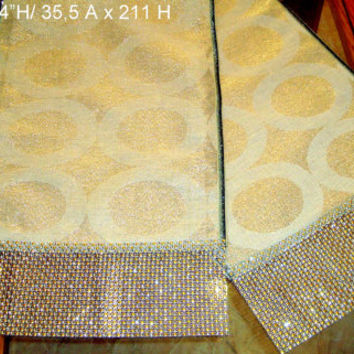 Gold embroidery 14x84 table runner – Christmas party deco