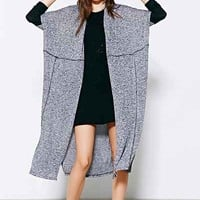 Silence + Noise Colorblock Seamed Cardigan Sweater-