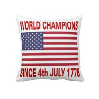 World champions since 1776 throw pillows from Zazzle.com