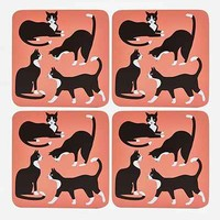Great Catsby Coaster Set- Multi One