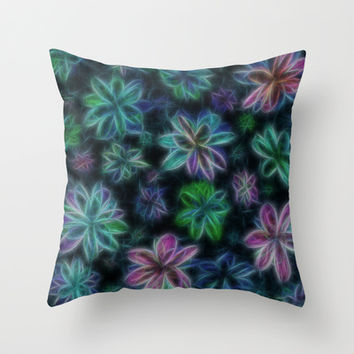 Night Garden Throw Pillow by Alice Gosling