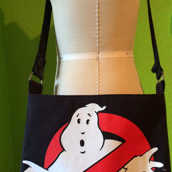 Ghostbusters Bag Upcycled T-shirt Crossbody Bag