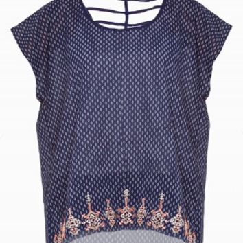 MINE EMBROIDERED HEM TOP