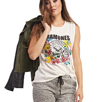 Ramones Floral Muscle Tank | Wet Seal