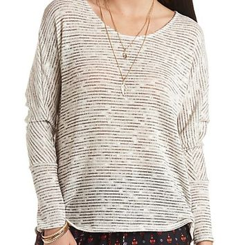 Oversized Marled Dolman Top by Charlotte Russe - Oatmeal Heather