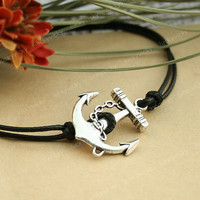 Bracelet-Anchor bracelet-vintage anchor bracelet