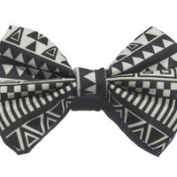 Aztec Print Hair Bow (only 1 small available until 2 weeks)
