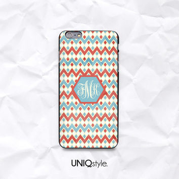 Personalized aztec phone case for iPhone 6 4/5/5s5c Samsung S4 S5 mini Note3 - tribal pattern phone cover with custom monogram name - N51