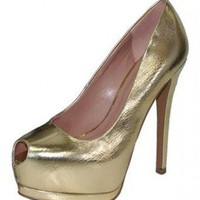 GOLD SUEDE SEXY PUMP @ KiwiLook fashion