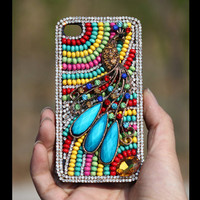 Gullei Trustmart : iPhone 4S 4G 3GS jewelled 3d case peacock artificial rhinestone crystals back cover [GTMIPC002] - $44.00 - Couple Gifts, Cool USB Drives, Stylish iPad/iPod/iPhone Cases & Home Decor Ideas