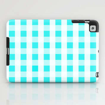 Plaid Flannel Turquoise Mint iPad Case by Beautiful Homes