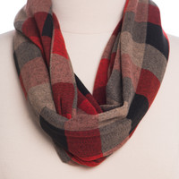 Checkmate Infinity Scarf, Red