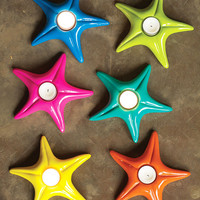 Bright Starfish Tealight Holders - Set of 6