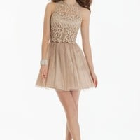 Short Lace Halter Dress