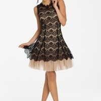 Two-Tone Lace Party Dress