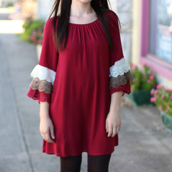 Colors of Fall Dress {Crimson}