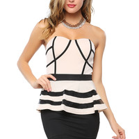 Lined Peplum Dress