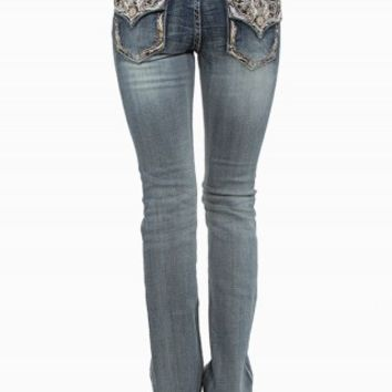GRACE IN LA BOOT LEAF JEANS