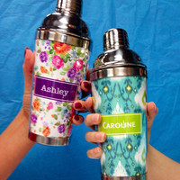 Personalized Shaker Cup - Textiles Monogram