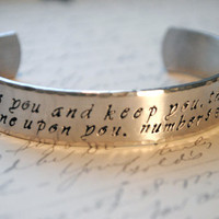 The Lord Bless You and Keep You CUSTOM Secret Message Cuff Bracelet