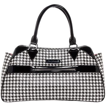 """Houndstooth"" Deadly Deville Purse by Sourpuss Clothing (Black/White)"