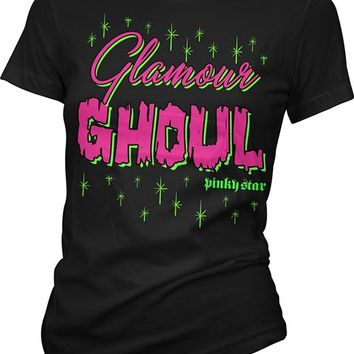 "Women's ""Glamour Ghoul"" Tee by Pinky Star (Black)"