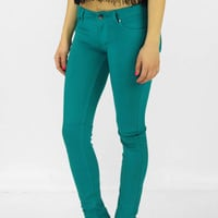 Whitney Skinny Pants- Teal @ LushFox.com :: Current Fashion Trends & Styles