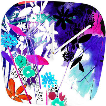 DENY Designs Home Accessories | Holly Sharpe Captivate Floral Modern Clock