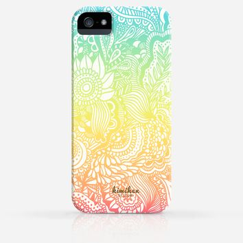 Full Zentangle Element Colors iPhone 4/4s iPhone 5/5s Case