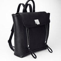 FOREVER 21 Pebbled Faux Leather Backpack Black One