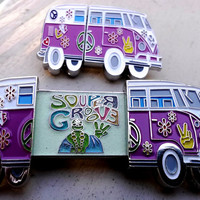 "Soupergroove 3  ""Festyvan"" - VW bus Double Slider - Juggling Suns - Turtle Soup - Hat Pin"