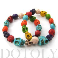 Rainbow Colored Skull Colorful Bracelet