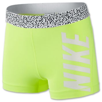 Women's Nike Pro 3 Inch Mezzo Waistband Compression Shorts