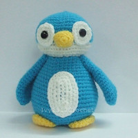 "Blue Penguin 6.9"" - Finished Amigurumi crochet doll toy Home decoration birthday anniversary gift"
