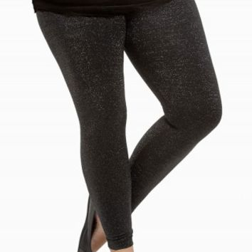 METALLIC FLEECE LEGGINGS