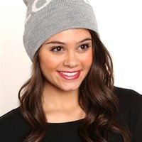 Knit Beanie with Love