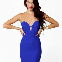 Get Low Strapless Cobalt Blue