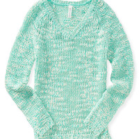 Aeropostale Neon V-Neck Sweater
