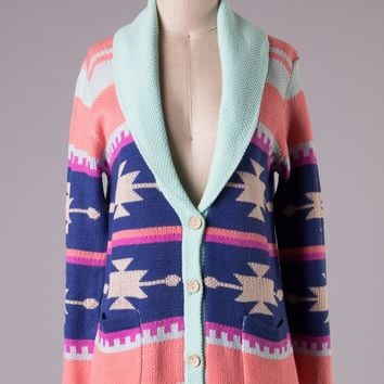 """Western Skys"" Sweater Cardigan"