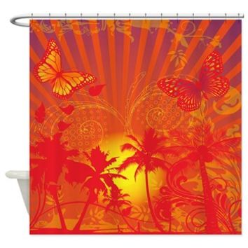 Tropical Glow Shower Curtain> Shower Curtains> SpiceTree Gift Shop