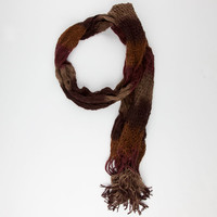 Open Weave Scarf Burgundy One Size For Women 24514032001