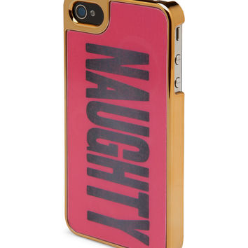 Aeropostale Lenticular Naughty Nice Phone Case - Rose Gold,