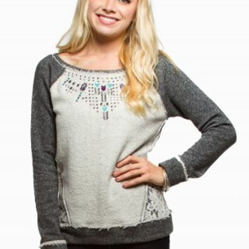 JOLT STUD LACE FLEECE