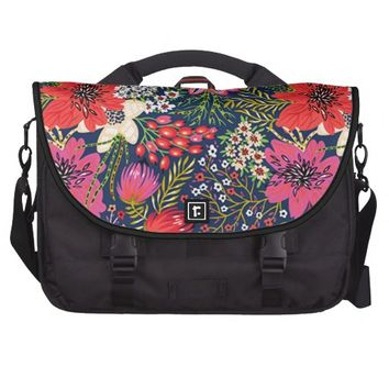 Vintage Bright Flower Pattern Computer Bag