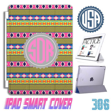 Custom Monogram Aztec Tribal IPad Air Smart Cover IPad mini Custom IPad 4 case IPhone 6 plus IPhone 5 5S 5C 4S Samsung Galaxy note 3 S5 S4